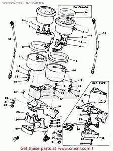 Yamaha Rd400c 1976  1977 Speedometer - Tachometer