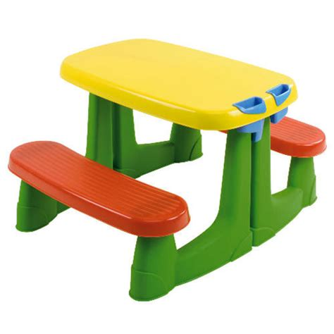 kids plastic picnic table red green and yellow kids plastic picnic table bench for