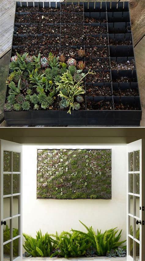 Vertical Garden Planting Panel by Diy Panel Vertical Succulent Garden Outdoor Livin