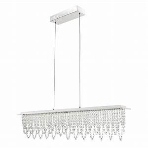 Lampe Mit Kristallen : design led h ngelampe mit kristallen und fernbedienung lampen m bel innenleuchten ~ Orissabook.com Haus und Dekorationen
