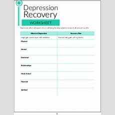 Plr Worksheets  Depression Recovery Worksheet Plrme