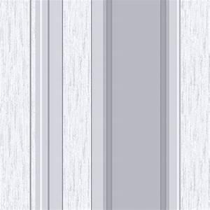 Pink grey striped wallpaper