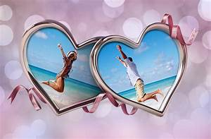 Double, Heart, Frame, Combine, Two, Photos, In, One, Heart, Collage