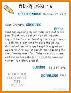 friendly letter  elementary penn