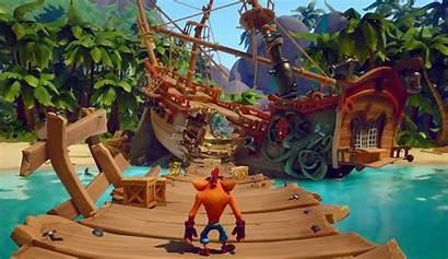 Bandicoot Crash Gameplay Its Pirate Level Coco
