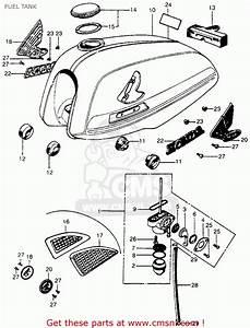 Honda Cl70 Scrambler 1972 K3 Usa Fuel Tank