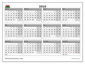 February 2020 Calendar Printable With Holidays 2019 Calendar Wales Uk Michel Zbinden En
