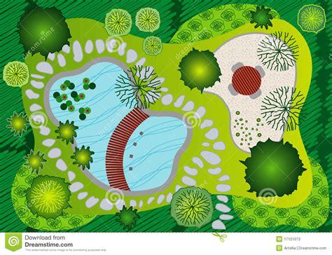 plan landscape and garden design stock photos image