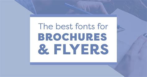 fonts  business brochures  flyers  stand