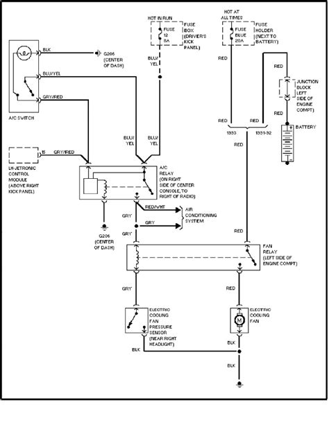 volvo 240 1991 1993 wiring diagrams cooling fan