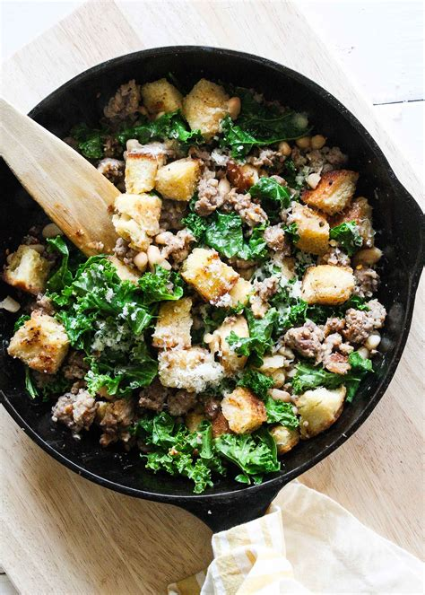 what does it to saute quick sausage kale and crouton saut 233 from smitten kitchen every day recipe simplyrecipes com