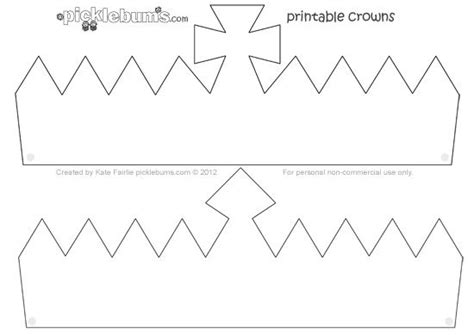 crown  printable crown template crown