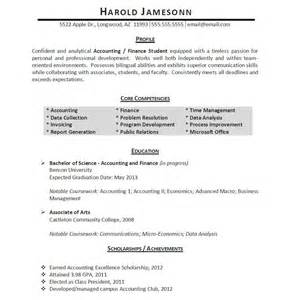 internship resume related coursework professionally written student resume exle