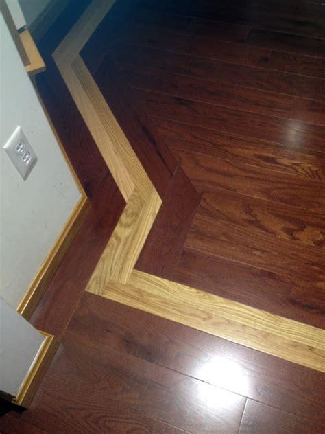 tone hardwood floor  mosaic inlay