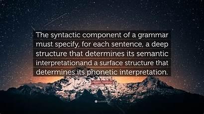 Chomsky Deep Noam Structure Component Syntactic Grammar