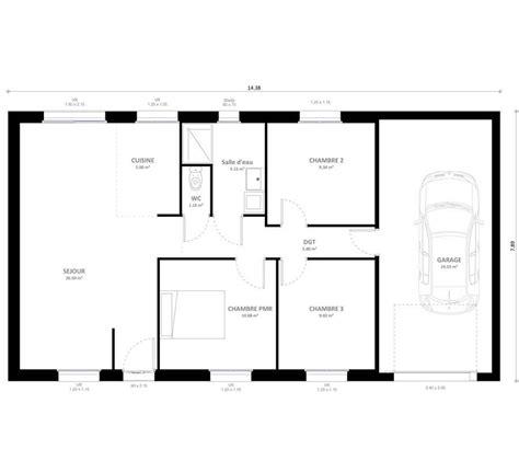 prix maison plain pied 3 chambres plan maison individuelle 3 chambres baya habitat concept