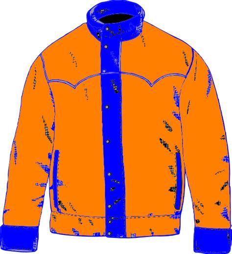Coat Clip Blue Orange Coat Clip At Clker Vector Clip