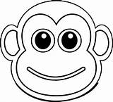 Monkey Cool Coloring Cartoon Face Drawings Pages Monkeys Baboon Illustration Printable Ingrahamrobotics Clipartmag Bible sketch template