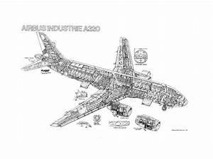 Airbus A320-100 Cutaway Poster - Photo Prints