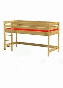 Hochbett Holz Kinder : kinder hochbett primus 1 mit rollrost holz massiv ~ Michelbontemps.com Haus und Dekorationen