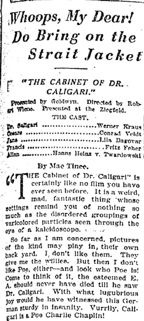 the cabinet of dr caligari character analysis 100 the cabinet of dr caligari analysis the