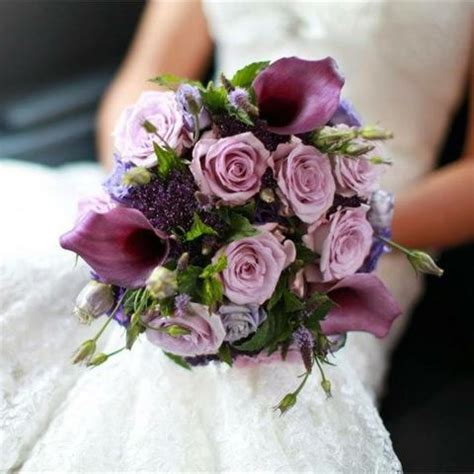 inspiration gallery  purple wedding flowers hitchedcouk