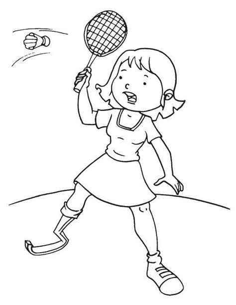 Kleurplaat Badminton by Disabled Badminton Coloring Page School