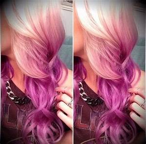 Pink And Lilac Reverse Ombre Hair | ♥Hair♥ | Pinterest