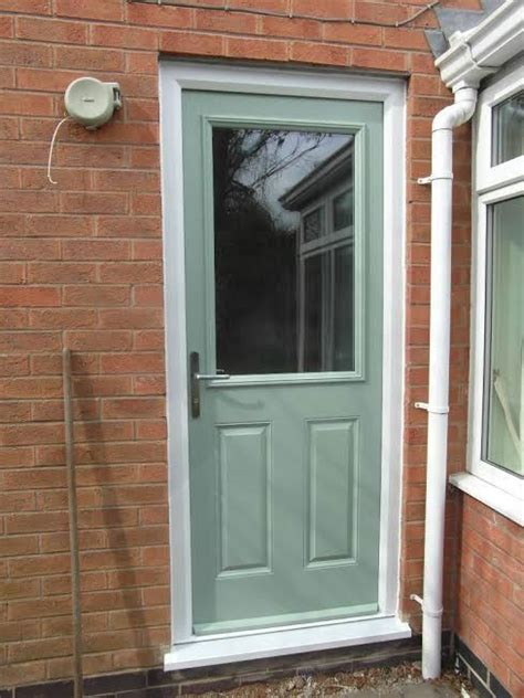 Back Doors by 2 Panel 1 Square Glazed Composite Back Door In Chartwell