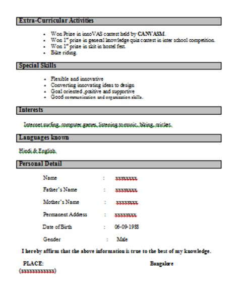 resume format questions interview resume format