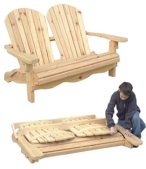 outdoor furniture folding adirondack loveseat plan   information rustic furniture