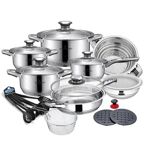palm cookware restaurant stainless steel royalty line pans collection pots kitchen 24pcs qana promotion senior alibaba lid glass larger