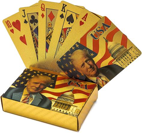 But that can be fool's gold. 24K GOLD DONALD TRUMP PLAYING CARDS w/ CERTIFICATE OF AUTHENTICITY CARD - James Red Pills America