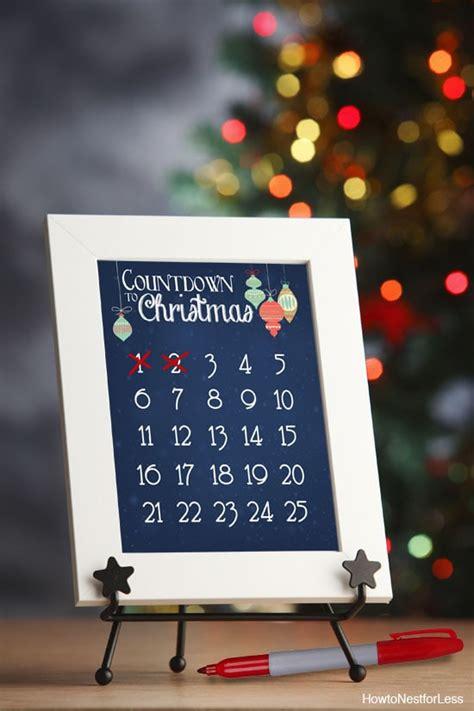 christmas countdown calendar  printable   nest