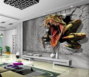 3D Dinosaur Wallpaper Personalized Custom Wall Murals ...