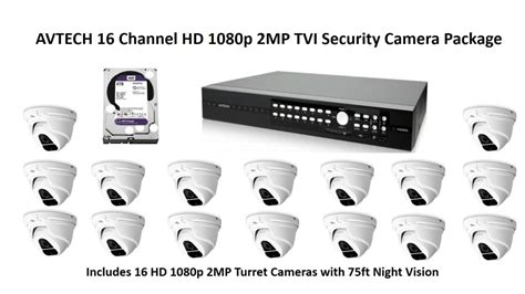 Hd 1080p Tvi Avtech Security Cameras And Recorders