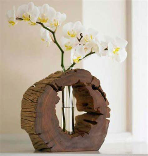 kreative ideen zum selbermachen originelle vasen aus baumst 252 mpfen