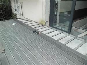Pose Terrasse Composite Sur Dalle Beton : terrasse en bois composite sur dalle beton ~ Carolinahurricanesstore.com Idées de Décoration