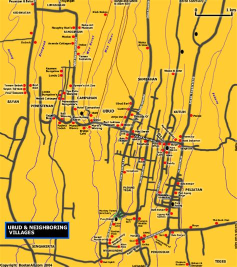 map  ubud neighboring villages bali blog