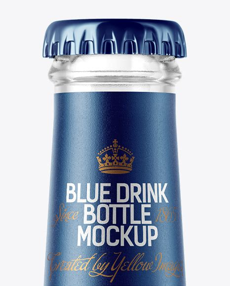 Free for personal and commercial use. 200ml Clear Glass Bottle with Blue Drink Mockup in Bottle ...