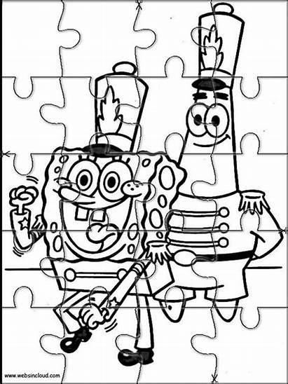 Spongebob Bob Coloring Puzzles Esponja Printable Websincloud