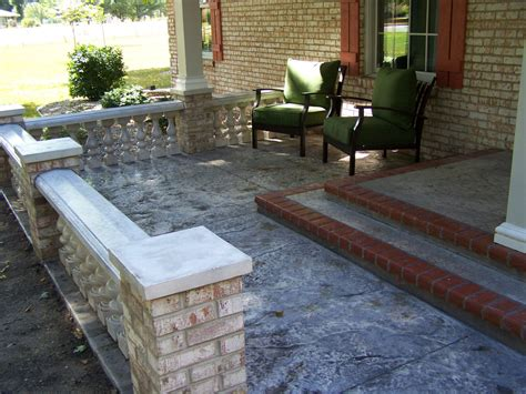 cement porch ideas concrete front porch makeover baluster floor designs