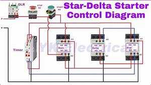 Star Delta Starter Control Wiring Diagram In Hindi