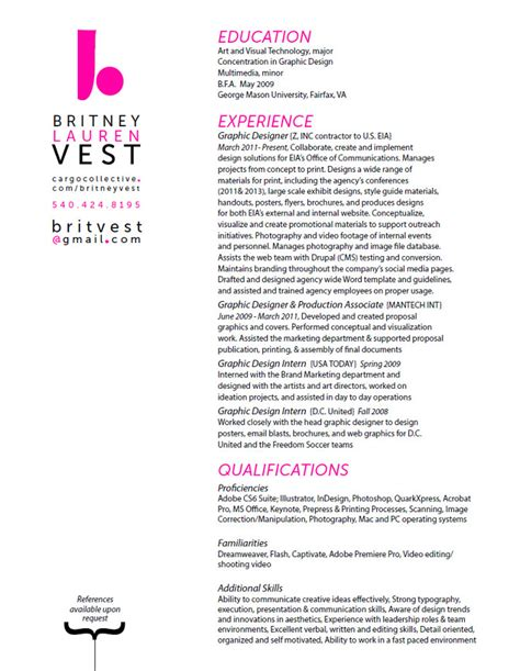 hire me resume vest graphic designer