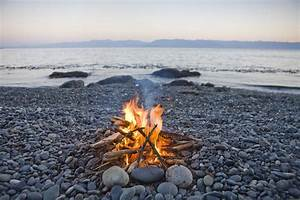 A Beach Fire On The Shores Of Vancouver Photograph by