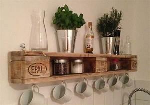 Möbel Aus Paletten : regal aus europaletten paletten pinterest shelves cuisine and kitchen shelves ~ Sanjose-hotels-ca.com Haus und Dekorationen