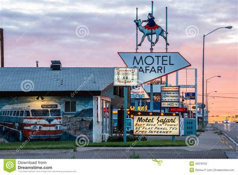 Route 66 New Mexico Winter Landscape Stock Photo Getty Motel Safari Tucumcari New Mexico Editorial