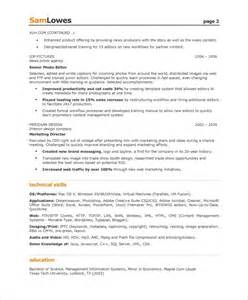 resume tips creative writing