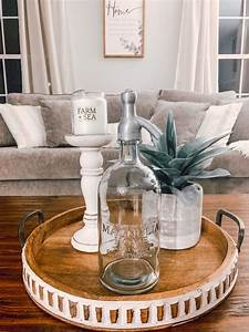 Ideas, To, Decorate, A, Round, Tray, On, The, Coffee, Table, Magnoliahome, In, 2020