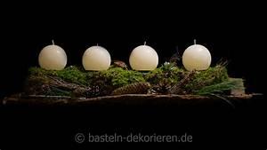 Basteln Mit Moos : einen besinnlichen 1 advent basteln und dekorieren ~ Watch28wear.com Haus und Dekorationen